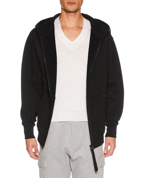 TOM FORD Men's Zip-Front Hoodie Sweatshirt, Black