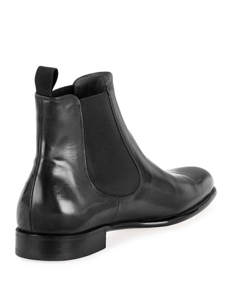 Berluti Men's Scritto Leather Chelsea Boots