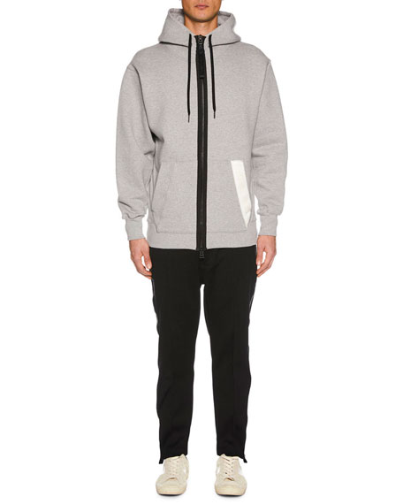 TOM FORD Men's Zip-Front Hoodie Sweatshirt, Gray