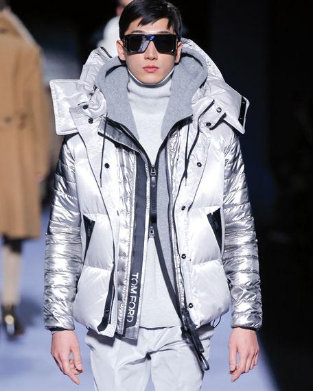 TOM FORD Men's Metallic Puffer Jacket