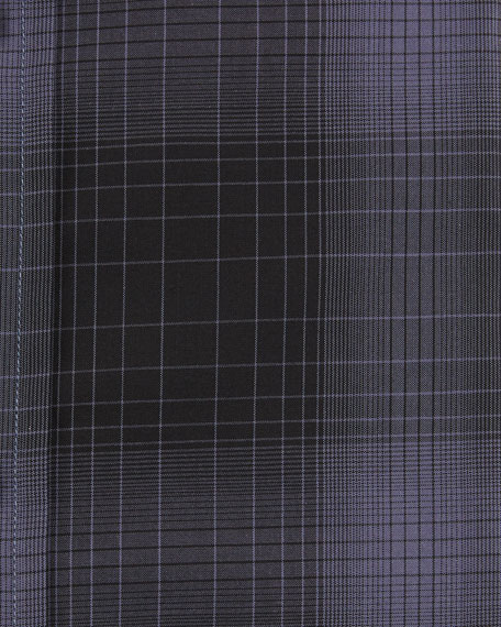Image 2 of 2: Men's Optical Check Pointed-Collar Dress Shirt