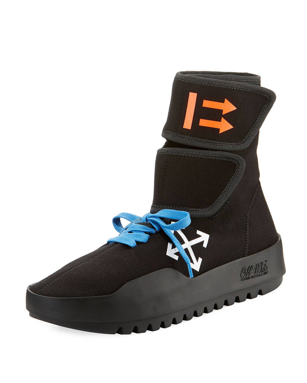 Off-White Men's MotoWrap Sneakers, Black Black Black 844025