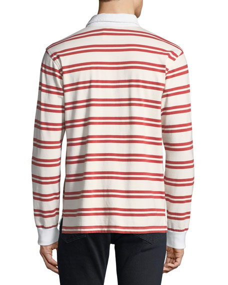 FRAME Men's Striped Rugby Shirt