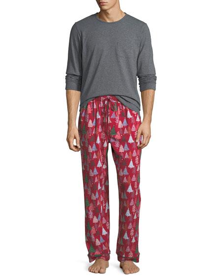 BedHead Pajamas Men's Family Christmas Tree Pajama Set