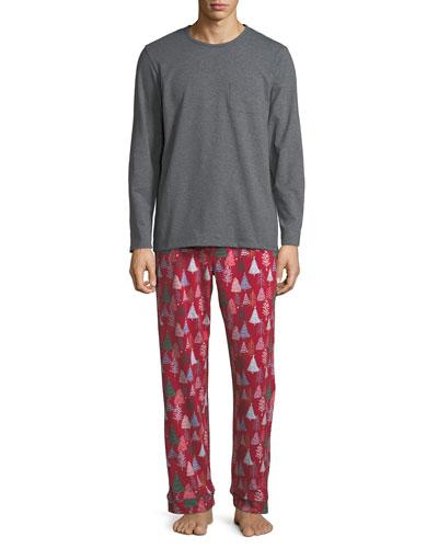 Men's Family Christmas Tree Pajama Set