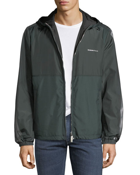 Stefano Ricci Men's Water-Repellant Hooded Jacket