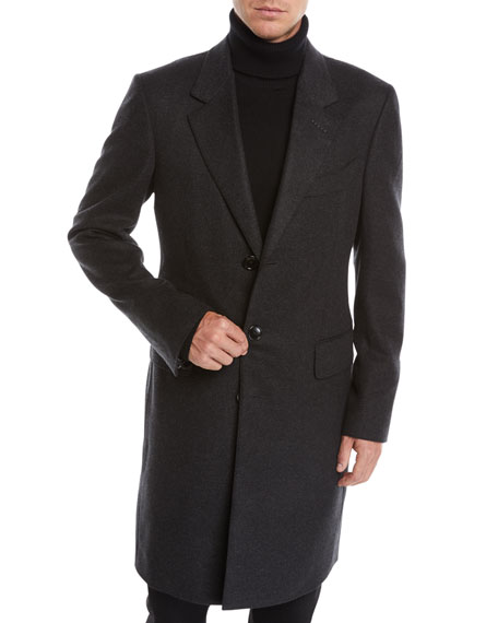 TOM FORD Men's Three-Button Cashmere Overcoat