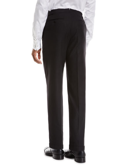 TOM FORD Men's O'Connor Flannel Dress Trousers