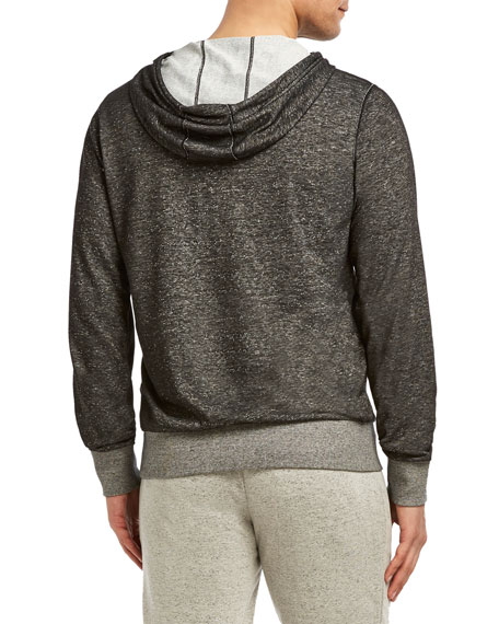 2Xist Zip-Front Hooded Speckled Knit Terry Jacket