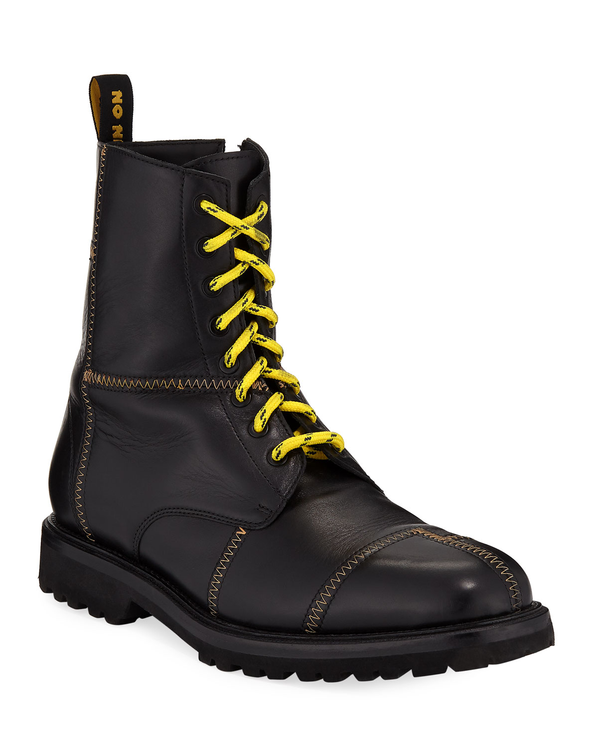 Ovadia Leather & Sons Men's Panic Leather Ovadia Combat Boots 59a381