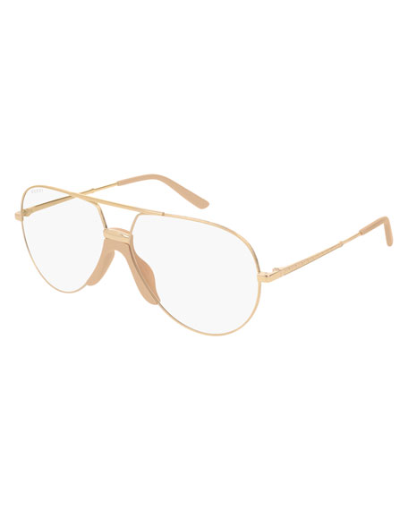 Gucci Men's Aviator Optical Glasses
