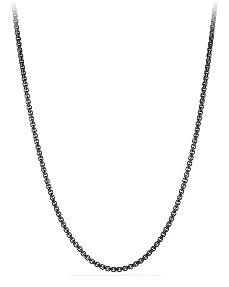 "David Yurman Men's 4mm Stainless Steel Box Chain Necklace, 22"""
