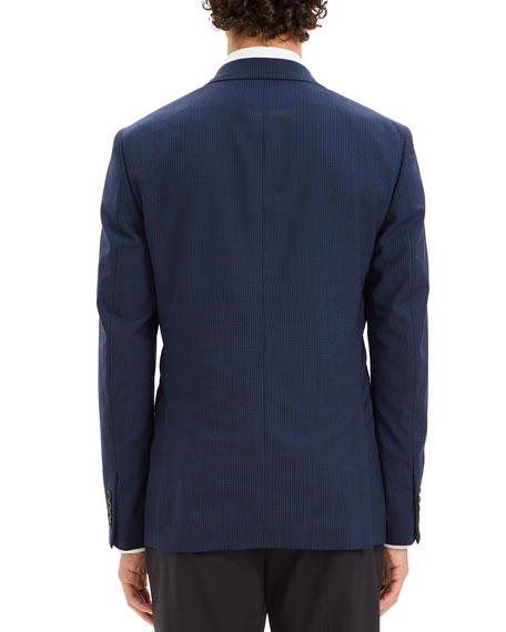 Theory Men's Chambers Broken-Check One-Button Slim Fit Jacket