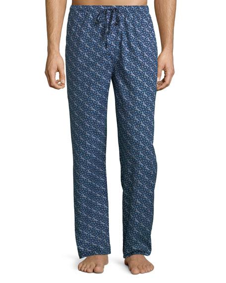 Derek Rose Men's Ledbury 15 Crane Lounge Pants