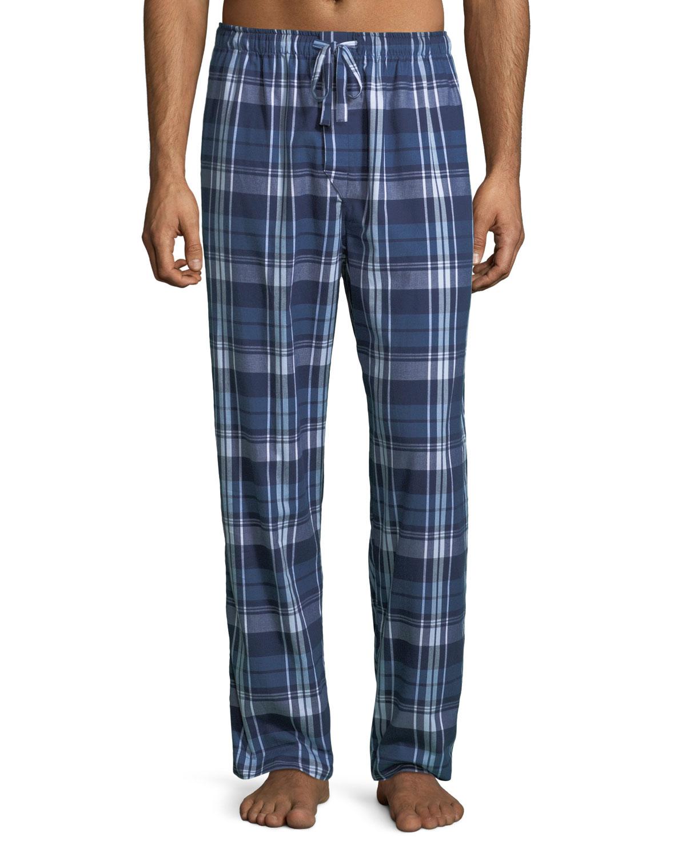 Derek Rose Men's Ranga 31 Plaid Cotton Lounge Pants