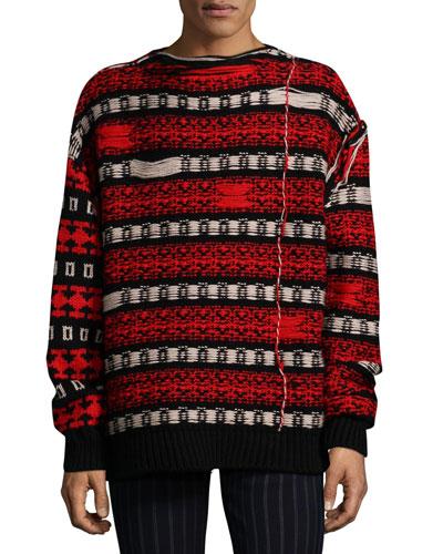 Men's Float-Back Jacquard Sweater