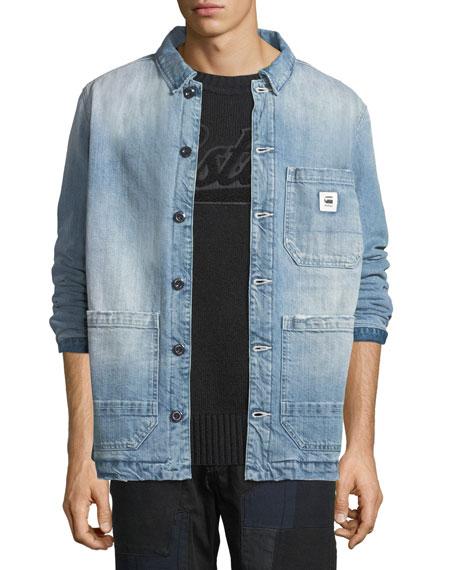 G-STAR Men'S Blake Padded Bitt Canvas Jacket in Blue