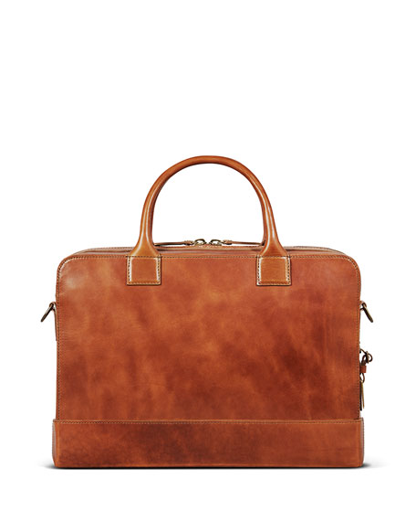 "Image 2 of 5: Shinola Men's Bedrock Embossed Harness Briefcase - 15"" Laptop"