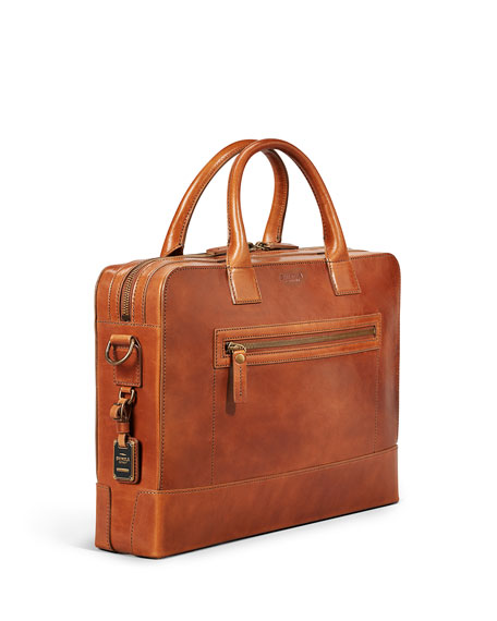 "Image 3 of 5: Shinola Men's Bedrock Embossed Harness Briefcase - 15"" Laptop"