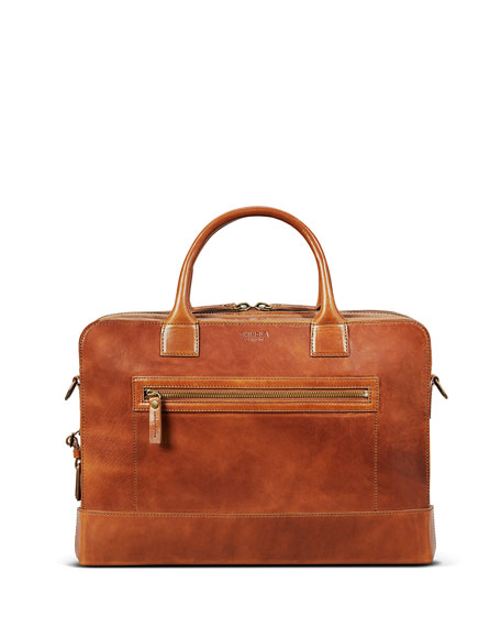 "Image 1 of 5: Shinola Men's Bedrock Embossed Harness Briefcase - 15"" Laptop"