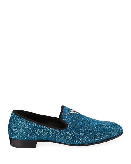 Giuseppe Zanotti Men's Kevin Glitter Formal Slippers