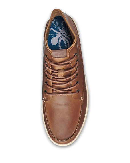 e8e7026369 Olukai Men s Nalukai High-Top Boots In Fox  Bone Leather