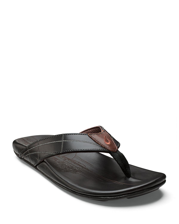 ee95a6f55 Olukai Men s Hokulea Kia Leather Flip-Flop Sandals