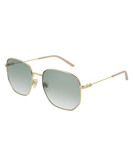 Gucci Men's Squared Gradient Sunglasses