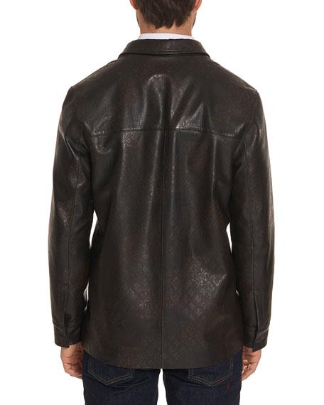 Robert Graham Men's Devane Lamb Leather Jacket