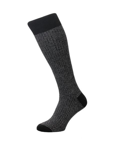 Pantherella Men's Scala Rib-Knit Socks