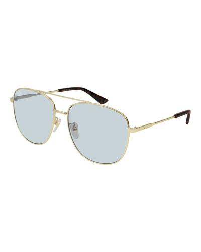 Men's GG0410SK005M Aviator Sunglasses
