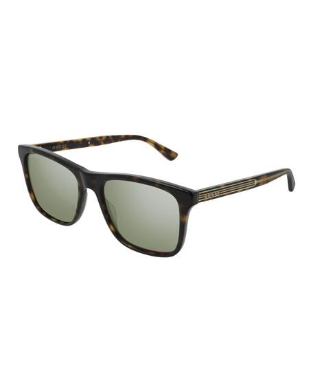 Gucci Men's GG0381S003M Mirrored Sunglasses