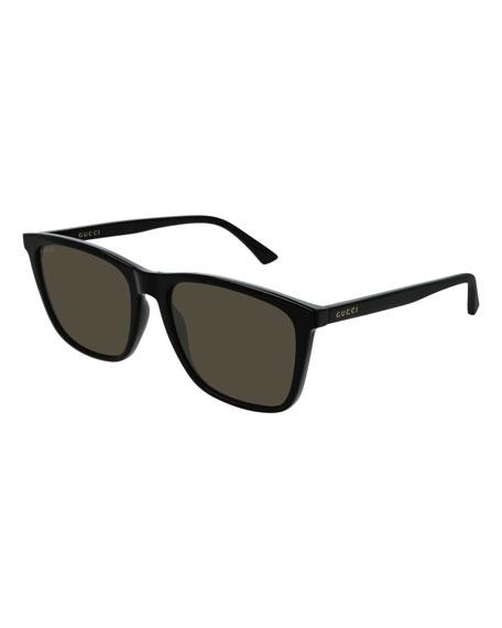 Gucci Men's GG0404S007M Injection Sunglasses - Polarized
