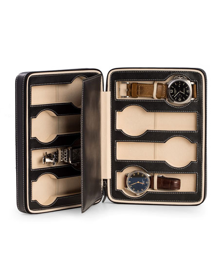 Image 1 of 2: Bey-Berk Leather Travel Watch Case - 8
