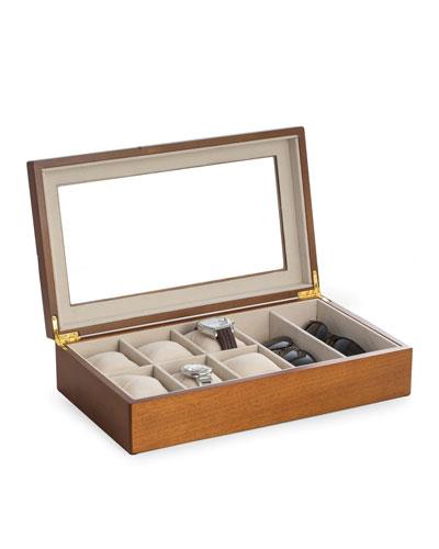 Cherry Wood Watch & Sunglasses Case
