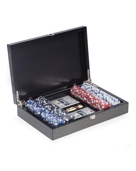 Bey-Berk Carbon Fiber-Design Poker Set