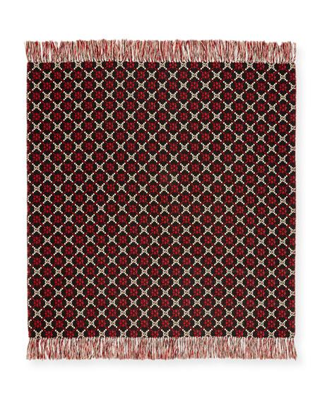 Gucci GG Logo Intarsia Wool Blanket
