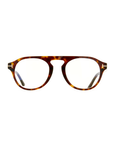 Tom Ford Men S Round Optical Glasses W Magnetic Clip On