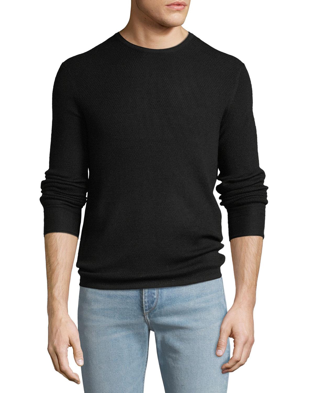 65dba20a3 Rag   Bone Men s Gregory Waffle-Knit Merino Wool Sweater