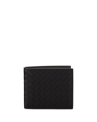Men's Basic Woven Leather Wallet