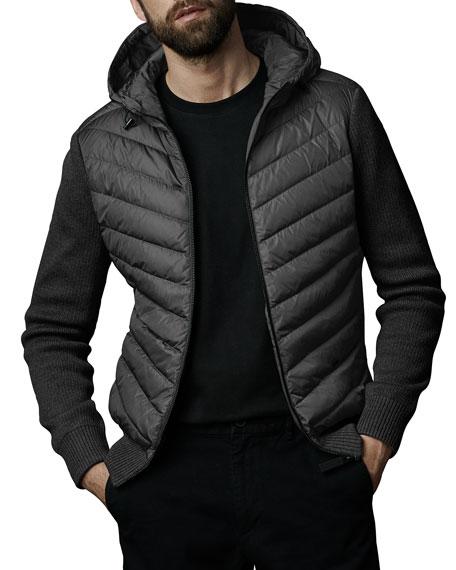 Canada Goose Men's Hybridge Knit-Sleeve Puffer Jacket