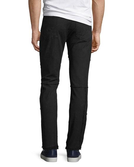 Hudson Men's Vaughn Skinny Ankle-Zip Distressed Jeans