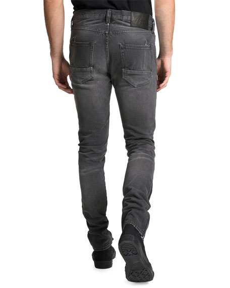 PRPS Men's Le Sabre Multi-Wash Side-Stripe Tapered Jeans