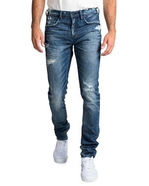 d2c5e9ca11 PRPS Men's Windsor Fit Stretch Denim Jeans with Rip/Repair