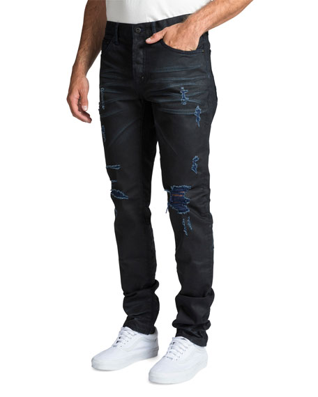 PRPS Men's Le Sabre Repaired-Distressed Jeans