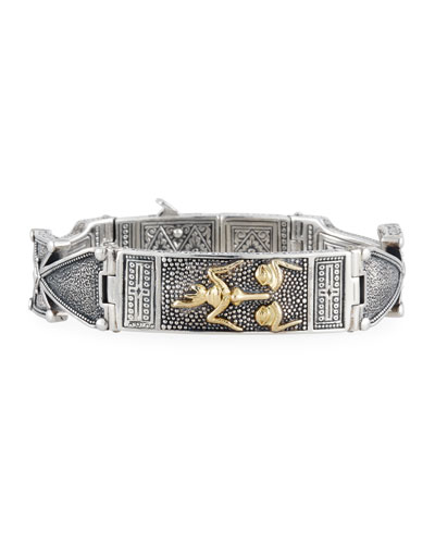Men's Stavros Jesus Face Cuff Bracelet