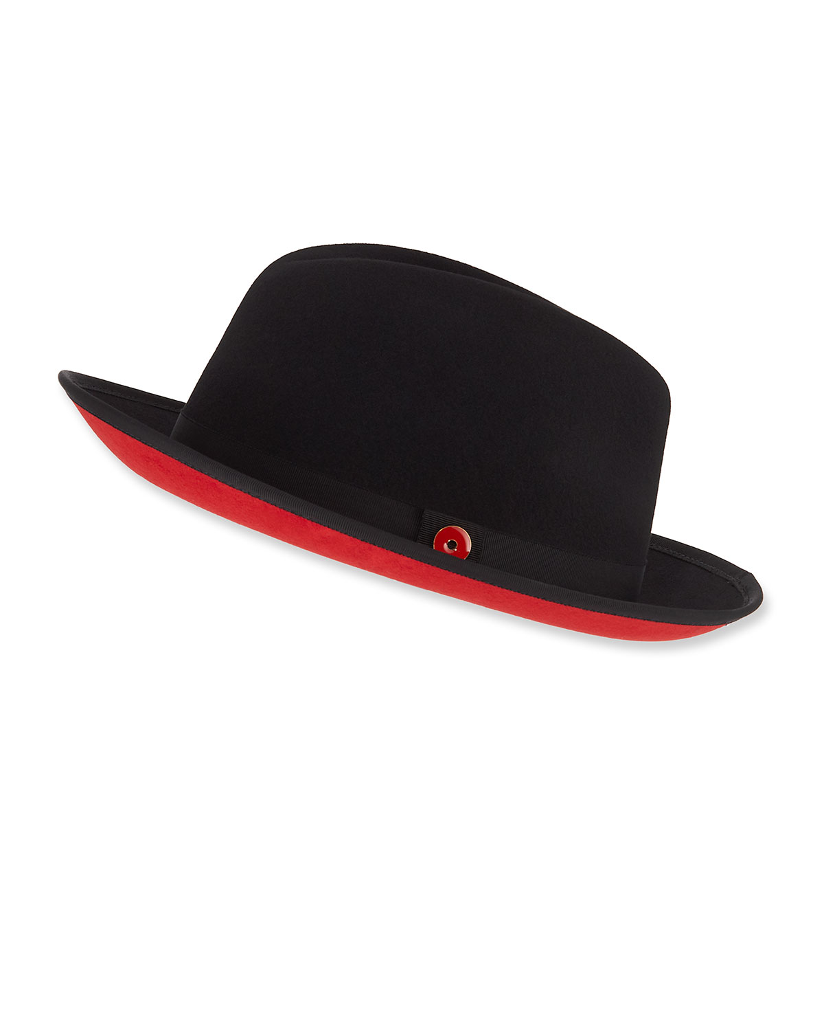 df605fd1 Men's King Red-Brim Wool Fedora Hat