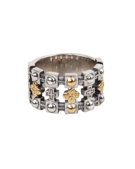 Konstantino Men's Stavros 18k Gold Trim Band Ring