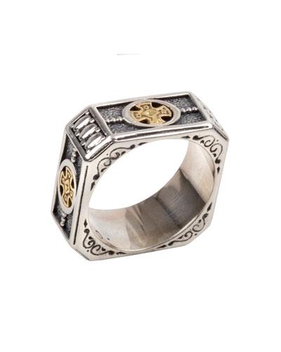 Konstantino Men S Stavros Square Band Ring
