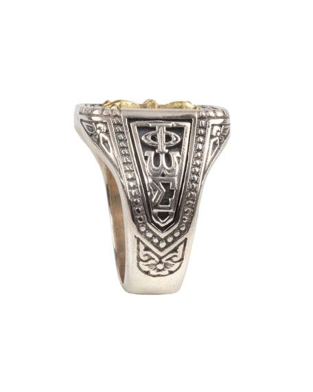 Konstantino Men's Stavros 18k Gold Cross Signet Ring